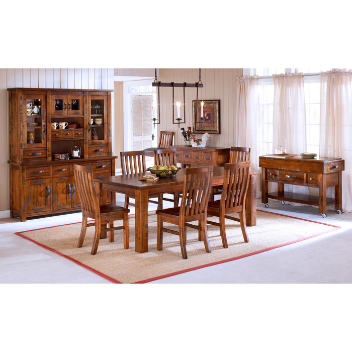 Outback Buffet and Hutch in Distressed Chestnut - HILL-4321BH