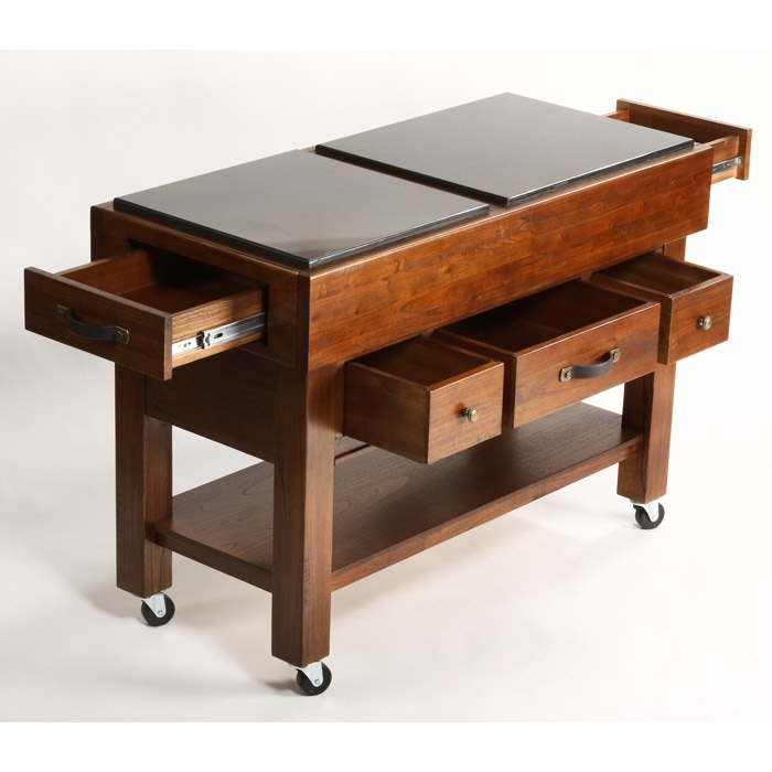 Outback 5 Drawer Kitchen Island On Casters Dcg Stores