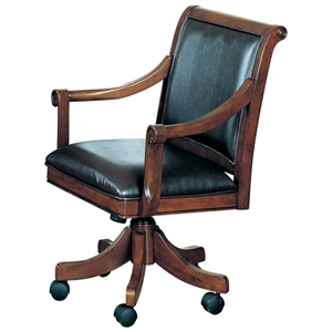 Palm Springs Leather Game Chair on Casters