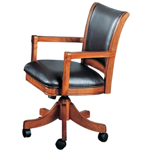 Parkview Leather Game Chair on Casters