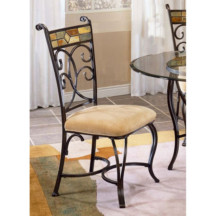 Pompei Dining Chair with Slate Accents - HILL-4442-802