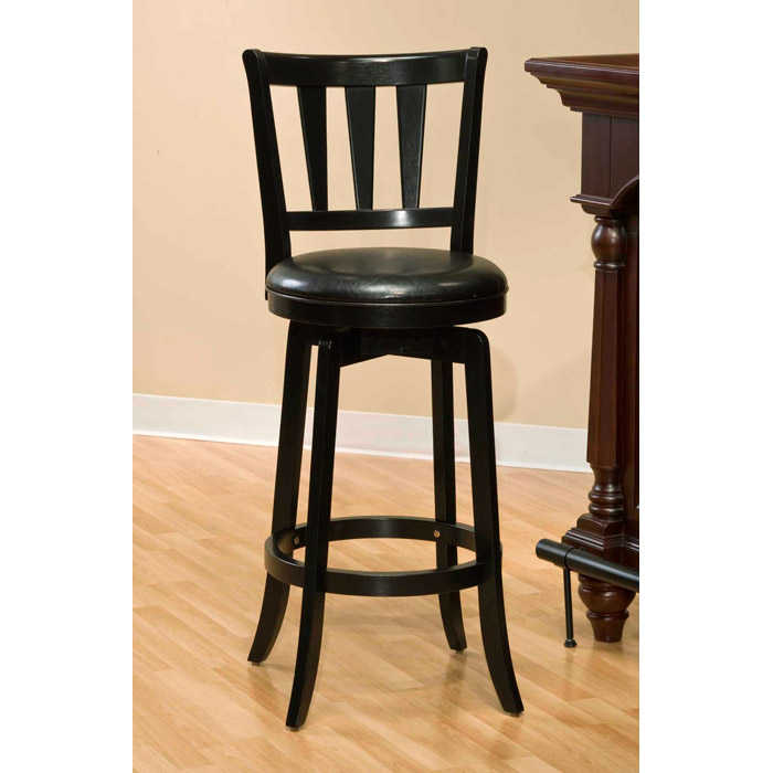Presque Isle 30 Quot Swivel Bar Stool Black Finish Black