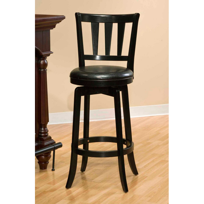 Presque Isle 26 Quot Swivel Counter Stool Black Finish