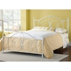 Ruby Textured White Metal Bed - HILL-1687B