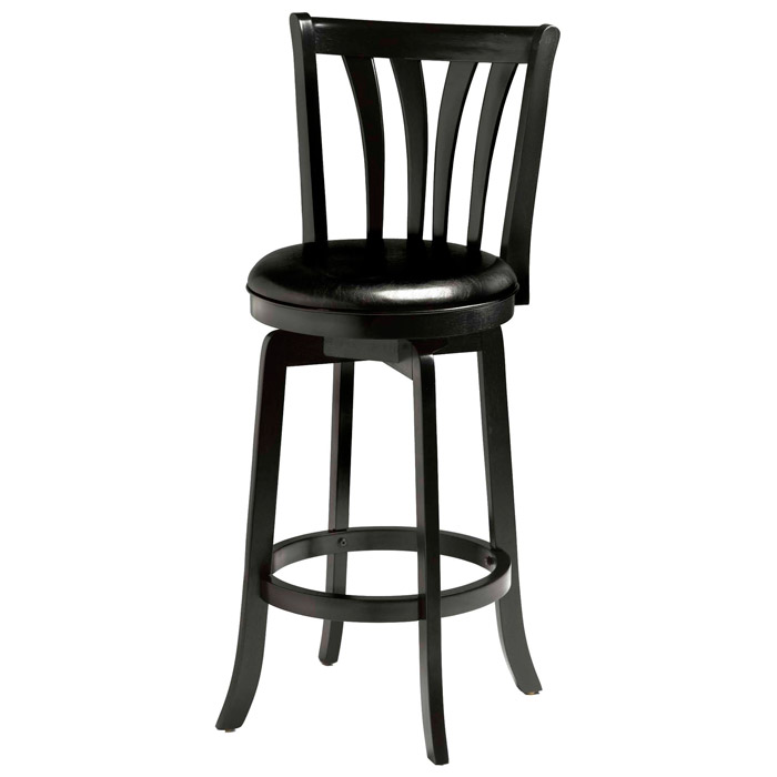 Savana 25 5 Quot Swivel Wood Counter Stool Black Dcg Stores