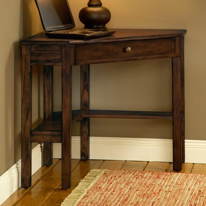 Solano Wooden Corner Desk In Cherry