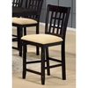 "Tabacon 24"" Non-Swivel Counter Stool in Dark Cappuccino - HILL-4155-822YM"