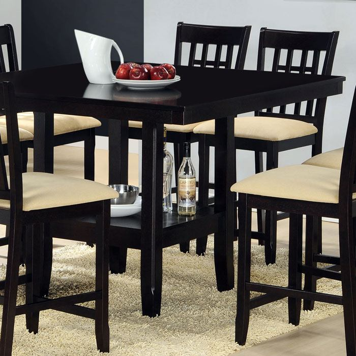 Tabacon 9 Piece Counter Set in Dark Cappuccino - HILL-4155DTBGS9