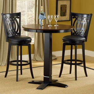 Van Draus 3 Piece Pub Set in Black