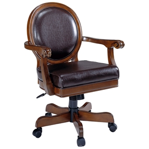 Warrington Leather Caster Game Chair
