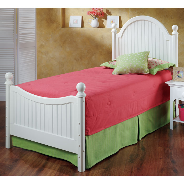 Westfield Twin Bed with Roll-Out Trundle - HILL-1354BTWHTR