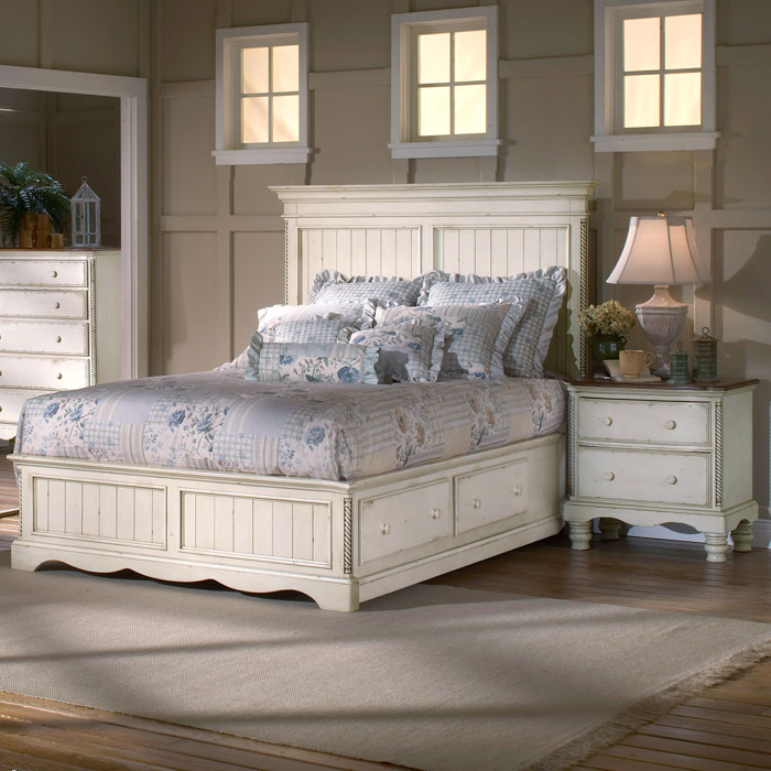 Wilshire 4 Piece Panel Storage Bedroom Set - HILL-1172STGBXRSET4