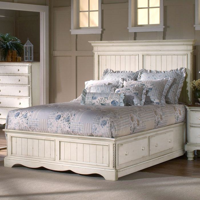 Wilshire Wooden Panel Storage Bed Dcg Stores