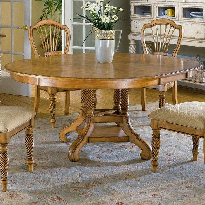 Round Dining Room Tables With Leaves: Wilshire Round Dining Table With Extension Leaf