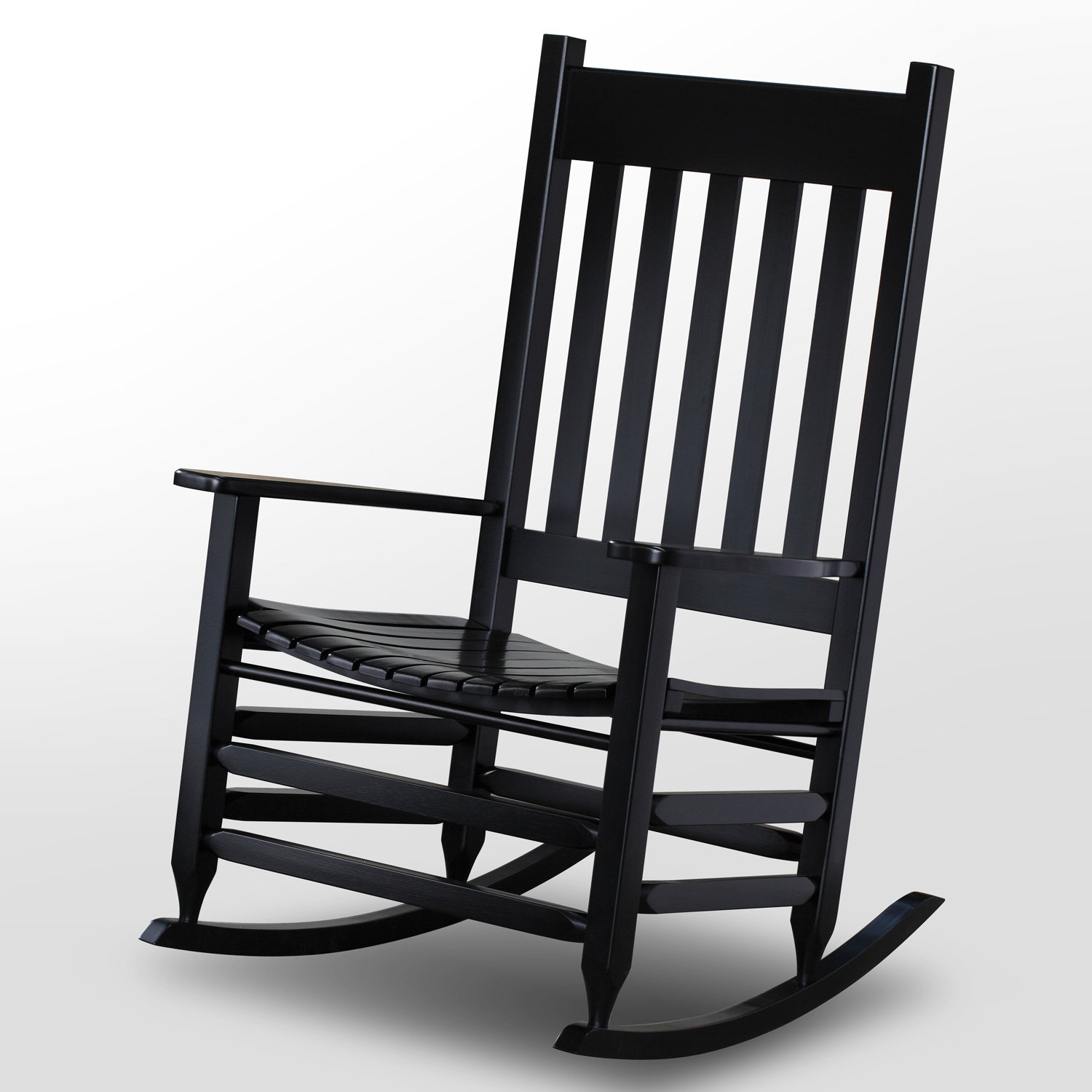 Plantation Jumbo Rocking Chair   Black Paint
