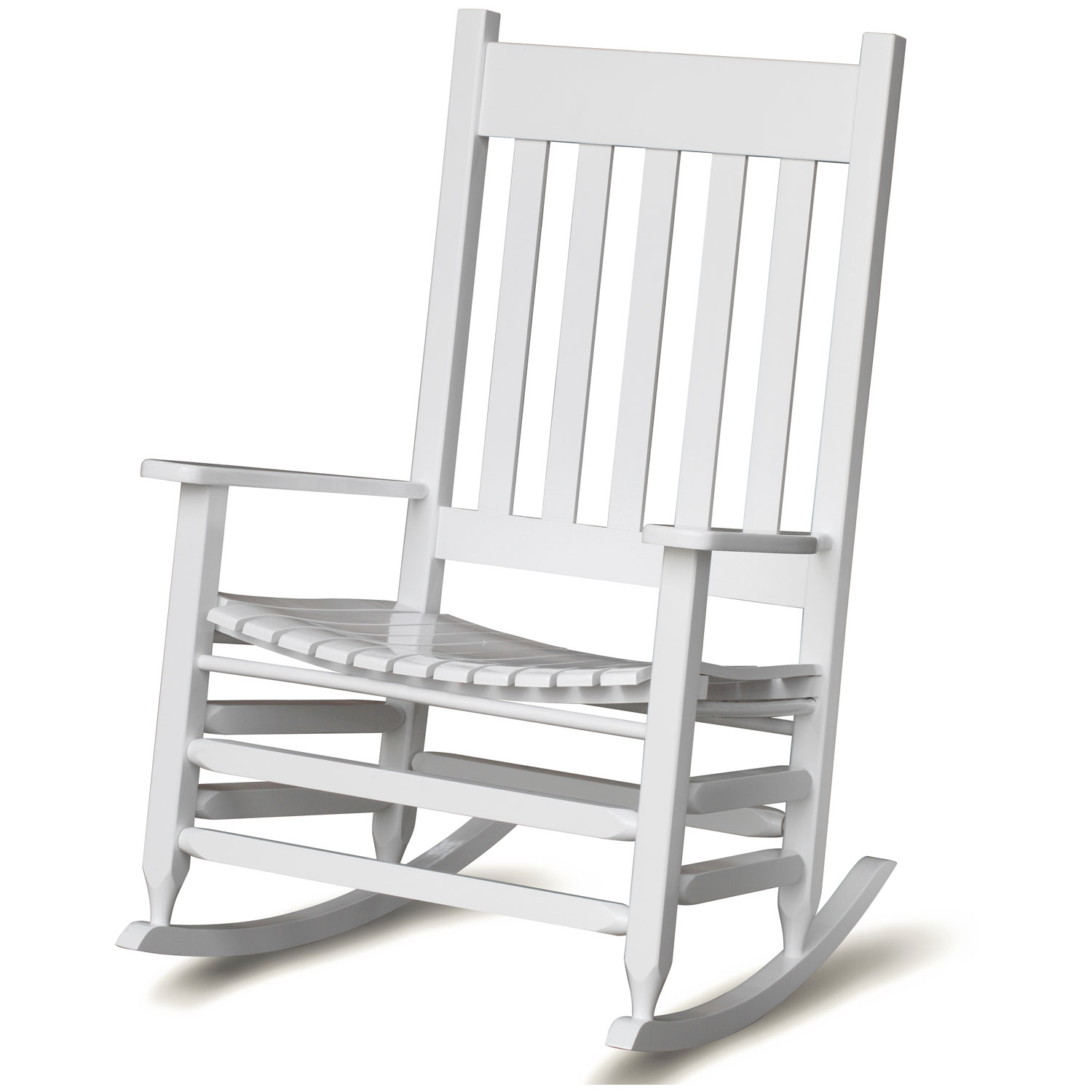 Plantation Jumbo Rocking Chair   White Paint