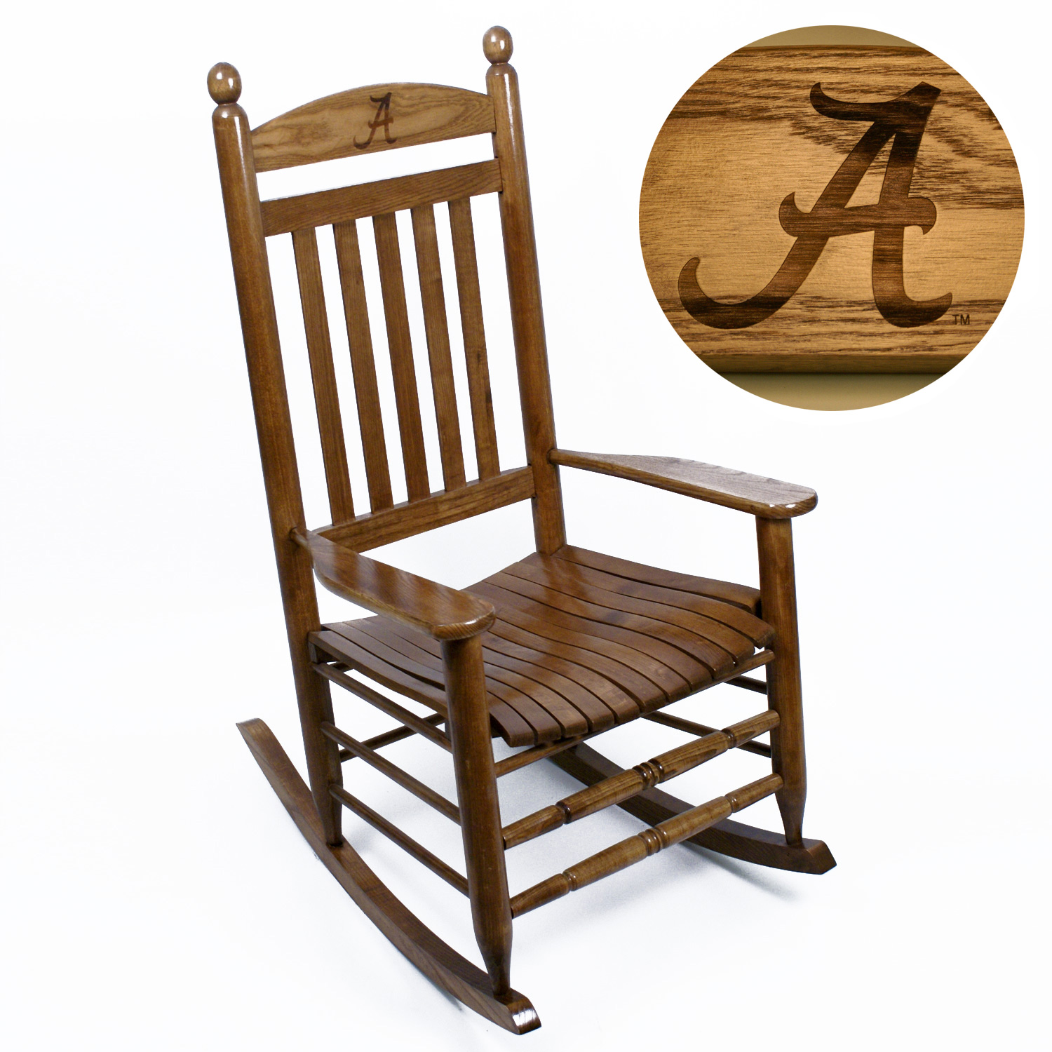 Alabama Crimson Tide Rocking Chair - Maple Finish