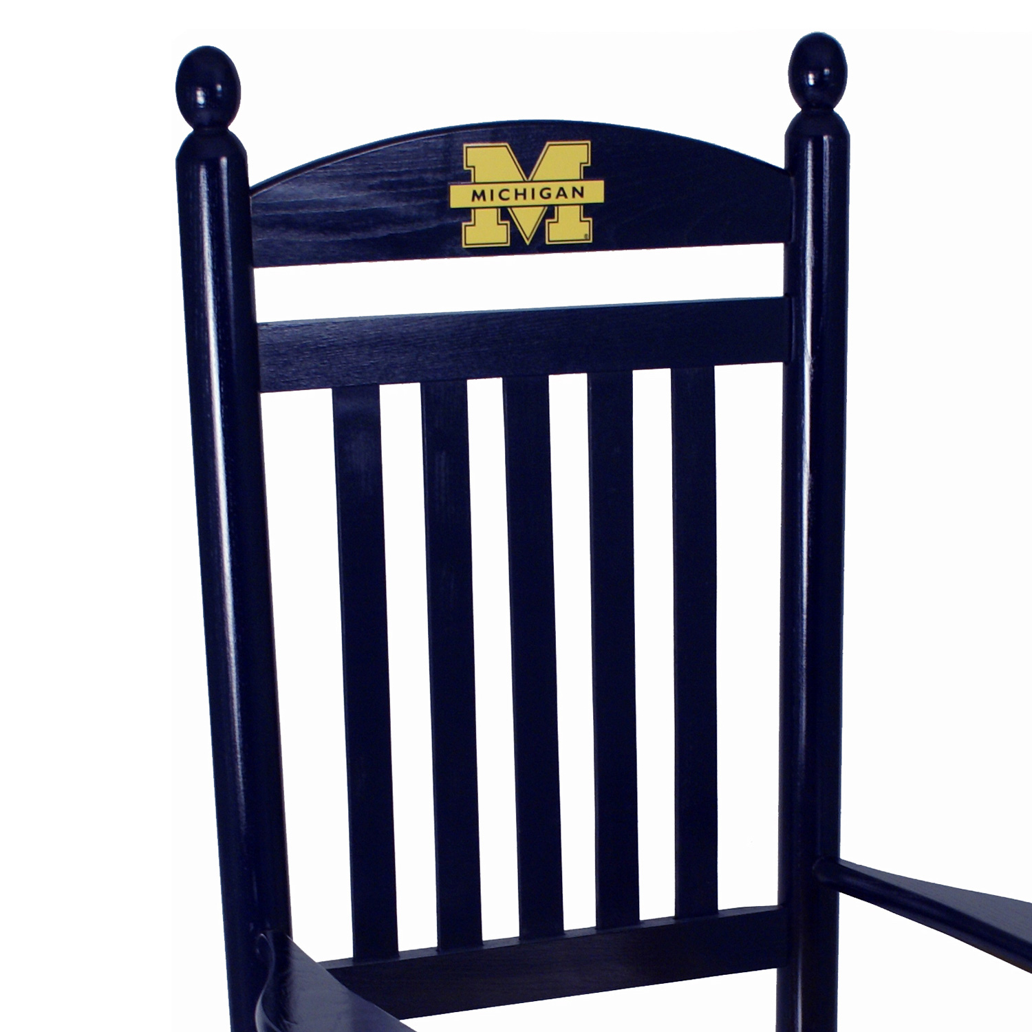 Michigan Wolverines Rocking Chair - Navy Blue & Yellow - HINK-200SC-MI