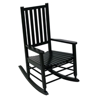 Alexander Mid-Sized Adult Rocking Chair - Black