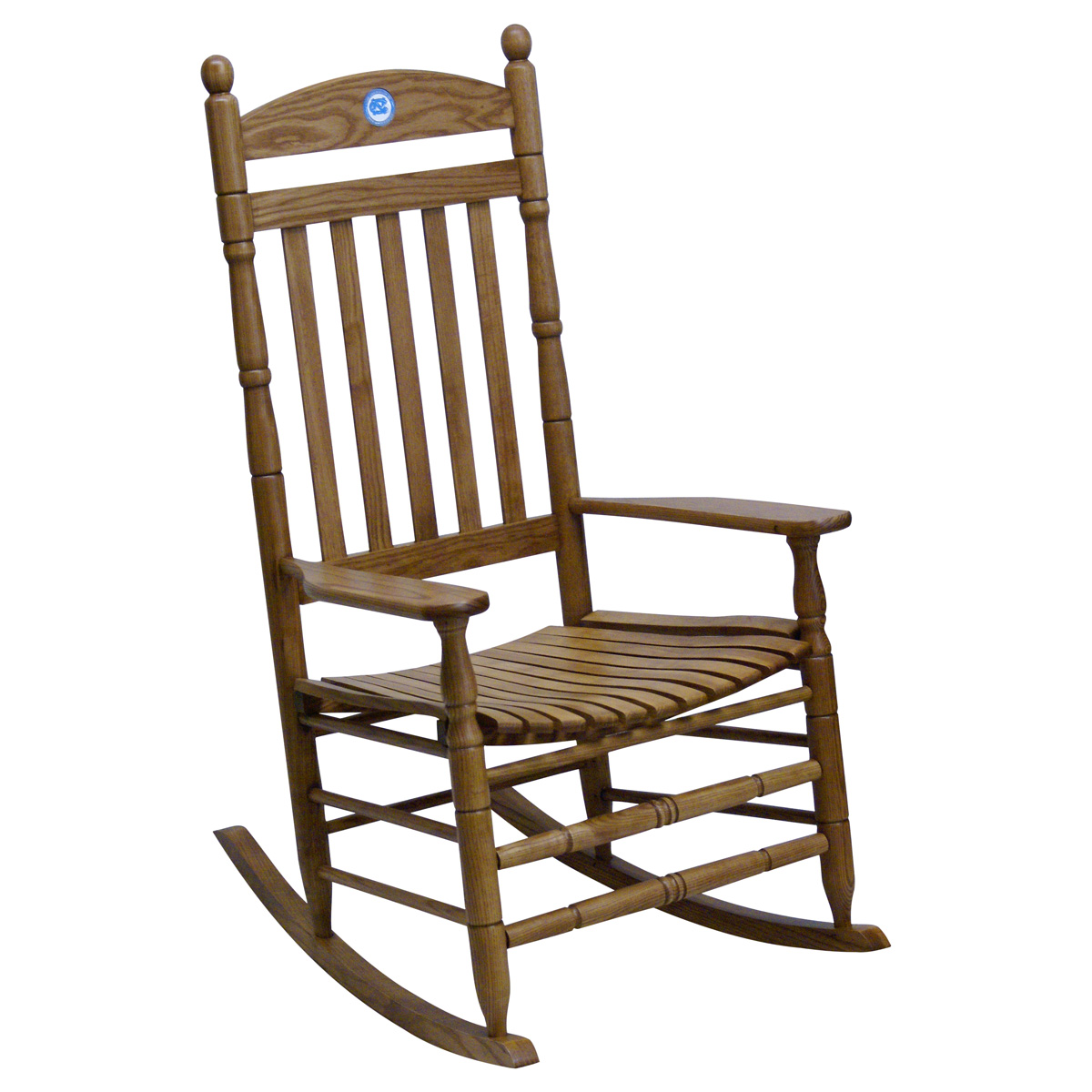 North Carolina Tar Heels Collegiate Rocking Chair - Maple Finish - HINK-250SM-NC-RTA