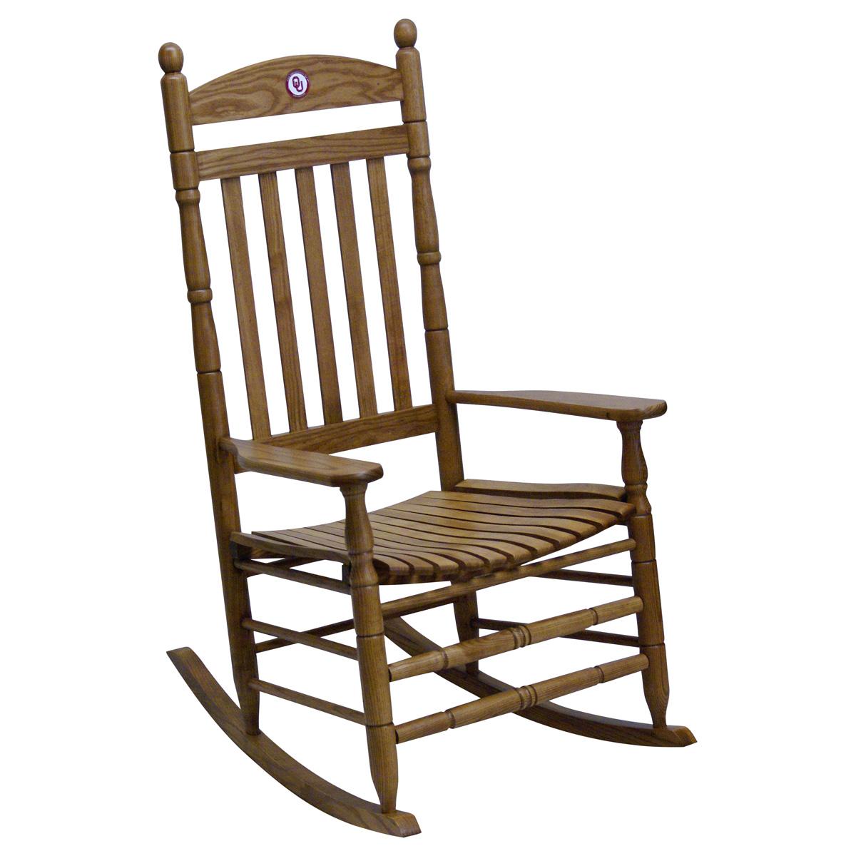 Oklahoma Sooners Collegiate Rocking Chair Maple Finish