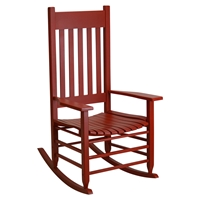 Plantation Rocking Chair - Chili Painted