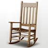 Plantation Rocking Chair - Slat Back & Seat, Maple Stain - HINK-850SM-RTA