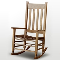 Plantation Rocking Chair - Slat Back & Seat, Maple Stain
