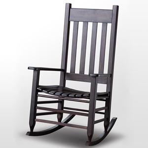 Plantation Rocking Chair - Slat Back & Seat, Mahogany Stain