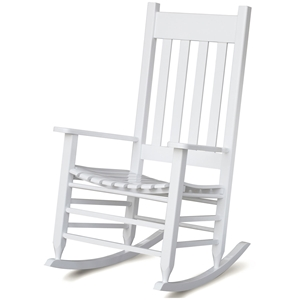 Plantation Rocking Chair - Slat Back & Seat, White Paint