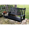 Plantation 58.5'' Wood Porch Swing - Black Paint - HINK-855PSBF-RTA