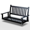 Plantation 50'' Slatted Porch Swing - Black Paint - HINK-854PSBF-RTA