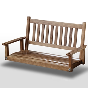 Plantation 50%27%27 Slatted Porch Swing - Maple Stain