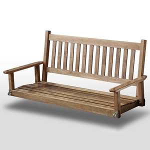 Plantation 58.5%27%27 Wood Porch Swing - Maple Stain