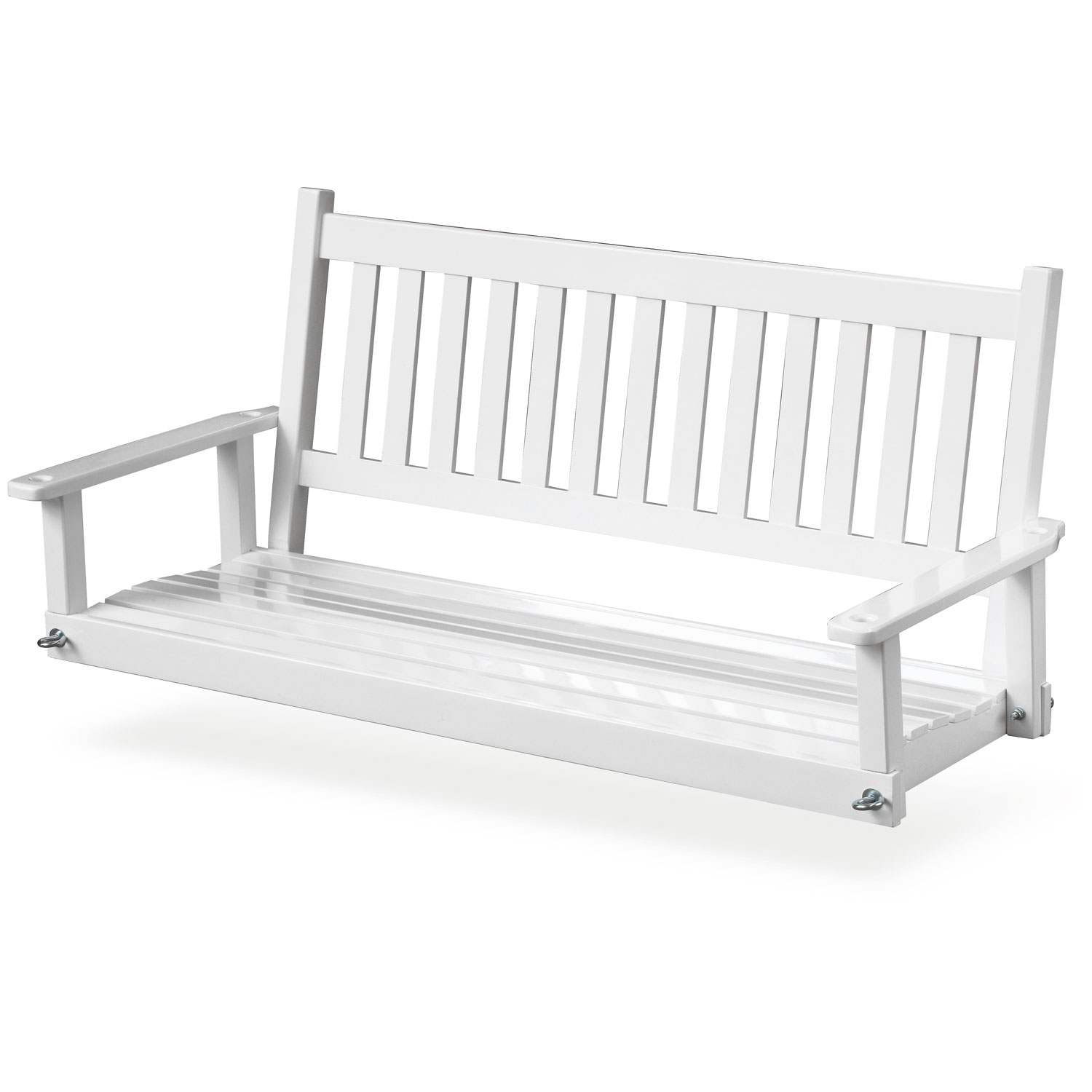 Plantation 58.5'' Wood Porch Swing - White Paint - HINK-855PSW-RTA
