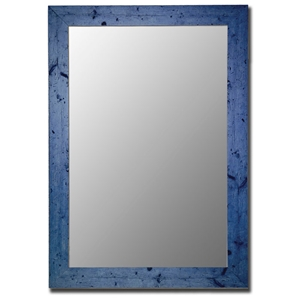 Connor Bevel Mirror in Vintage Blue - Made in USA