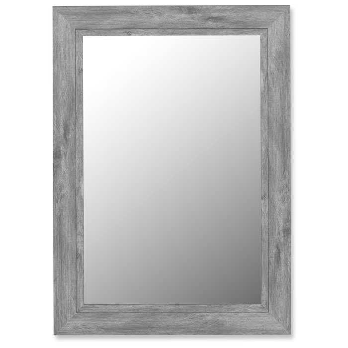 florian weathered grey frame mirror with liner