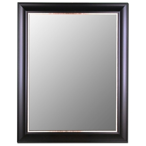 Ruella Classic Mirror in Ebony and Silver - Made in USA