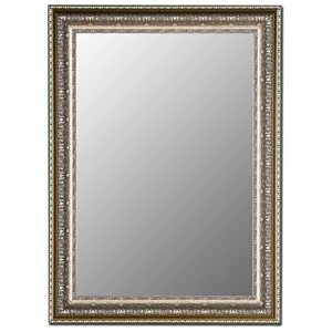 Simone Bevel Mirror in Venetian Washed Silver - Made in USA