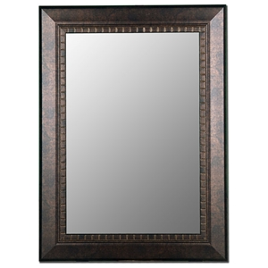 Sybil Bevel Mirror in Antiqued Copper Bronze - Made in USA