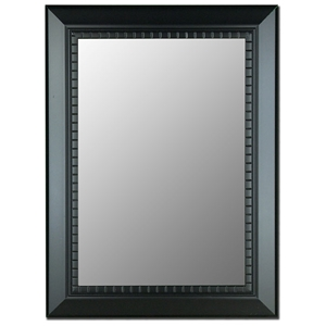 Sparrow Bevel Mirror in Oiled Ebony Black - Made in USA