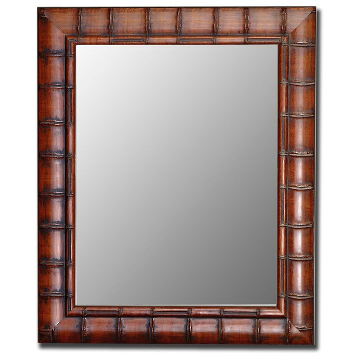 Bertola Fruitwood Bamboo Frame Bevel Mirror Made In Usa Dcg Stores