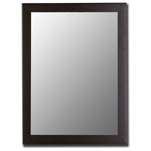 Arlington Contemporary Mirror in Satin Black - Made in USA