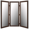 Riverview Mirrored Room Divider in Mahogany - Made in USA