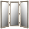 Silverwater Mirrored Room Divider in Baroni Silver - Made in USA