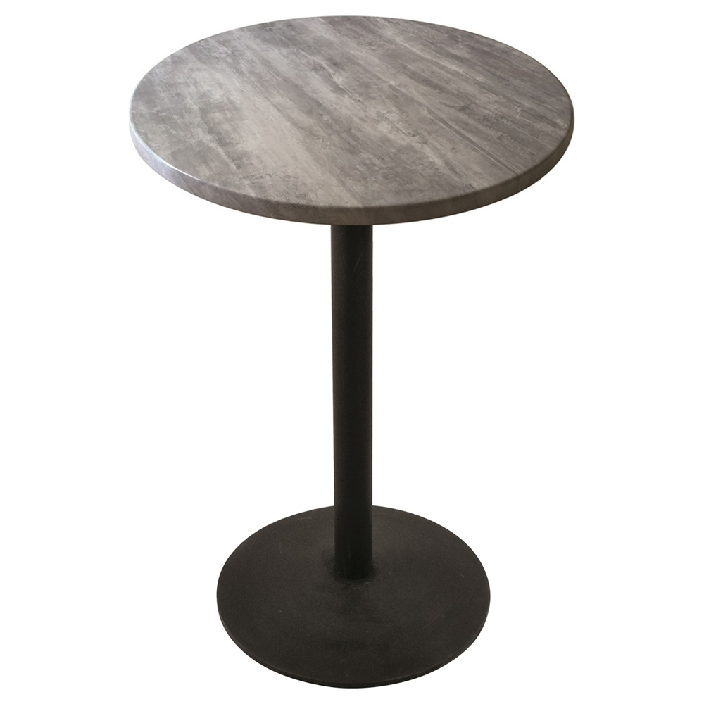 30 Quot Round Pub Table Round Foot Black Wrinkle Base Dcg