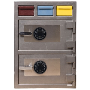 Triple Drop Depository Safe w/ Dial Lock - 3D-2820MM-CC