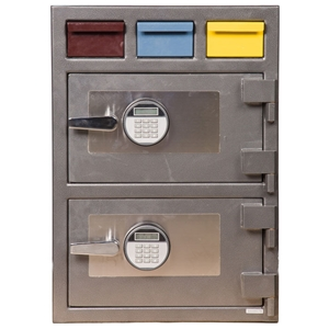 Triple Drop Depository Safe w/ Electronic Lock - 3D-2820MM-EE