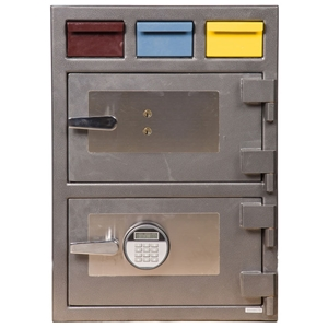 Triple Drop Depository Safe w/ Electronic & Key Lock - 3D-2820MM-KE