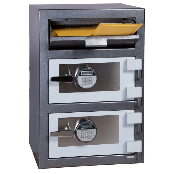 Double Door Depository Safe w/ Electronic Lock - FD-3020EE - HOL-FDD-3020EE